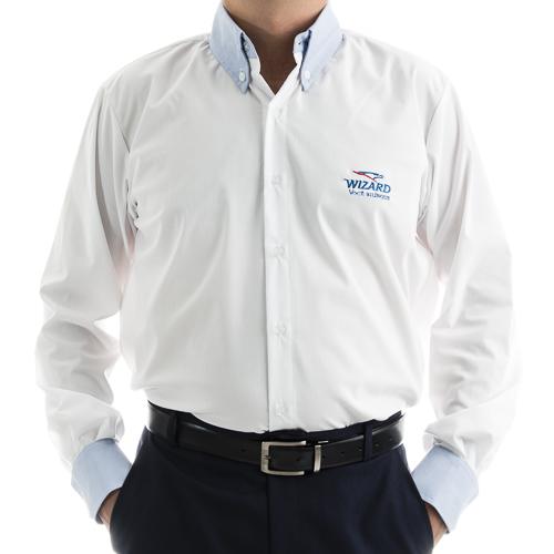 0b6380c963 Linha Executiva Social Masculina. 8 1 20150204164747. . Camisa Social  Masculina Manga Longa Tricoline Mista ...
